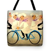 Chefs On A Bike Tote Bag