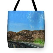 Chem Trails Valley Of Fire  Tote Bag