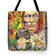 Cherokee Chief With Friend Mr.p Tote Bag
