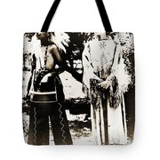 Cherokee Indian Couple Tote Bag