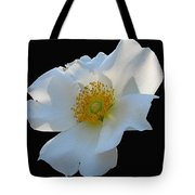 Cherokee Rose On Black Tote Bag