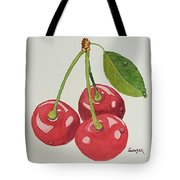 Cherry Times Three Tote Bag