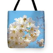 Cherry Blossom And A Bee Tote Bag