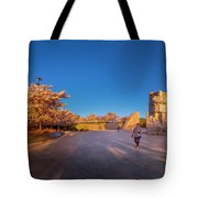 Cherry Blossom At The Mlk Monument Tote Bag