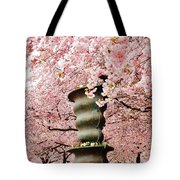 Cherry Blossom In Stockholm Tote Bag