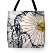 Cherry Blossom Parasol  Tote Bag