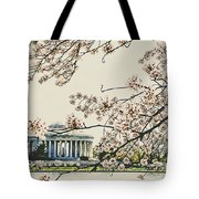 Cherry Blossom Tidalbasin View Tote Bag