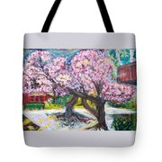 Cherry Blossom Time Tote Bag