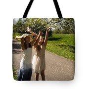 Cherry Blossom Toss Tote Bag