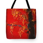 Cherry Blossom Tree - Red Yellow Tote Bag