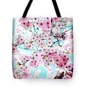 Cherry Blossom Watercolor Tote Bag