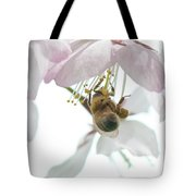 Cherry Blossom With Bee Tote Bag