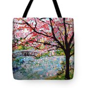 Cherry Blossoms And Bridge 3 201730 Tote Bag