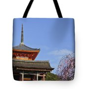 Cherry Blossoms And Kiyomizu-dera Tote Bag