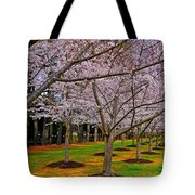 Cherry Blossoms At The Beach Tote Bag