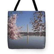Cherry Blossoms Monument Tote Bag