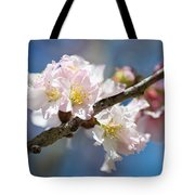 Cherry Blossoms On Blue Tote Bag