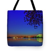 Cherry Blossoms Sunrise Tote Bag