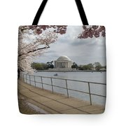 Cherry Blossoms With Memorial Tote Bag