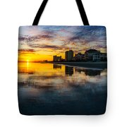 Cherry Grove Beach Front Sunset Tote Bag