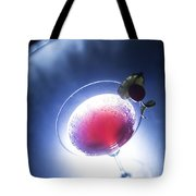 Cherry Martini Cocktail Drink At Night Tote Bag