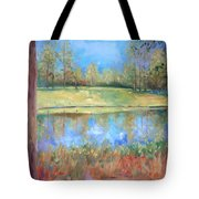 Cherry Moon Pond Tote Bag