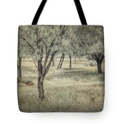 Cherry Orchard In Infrared Tote Bag