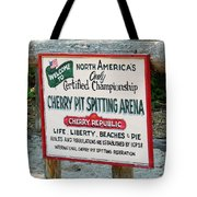 Cherry Pit Spitting Tote Bag