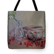 Cherry Still Life Pottery Red Still Life Art Still Life Painting Impressionist Painting Impression Tote Bag
