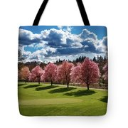 Cherry Tree Bloom Color Tote Bag