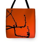 Cherry Tree Buds Tote Bag