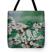 Cherry Tree Rich In Flowers Tote Bag