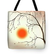 Cherry Tree In Fall Tote Bag