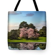Cherry Tree Reflections Tote Bag