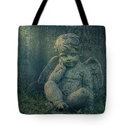 Cherub Lost In Thoughts Tote Bag