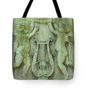 Cherubs In Moss Green Tote Bag
