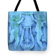 Cherubs In Turquoise Tote Bag