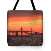Chesapeake Bay Bridge Sunset Tote Bag