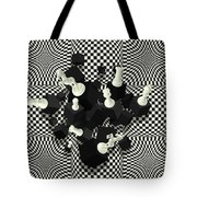 Chessboard And 3d Chess Pieces Composition Tote Bag
