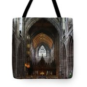 Chester Cathedral England Uk Inside The Nave Tote Bag