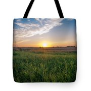 Chestermere Sunset Tote Bag by Adnan Bhatti
