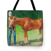 Chestnut The Horse Tote Bag