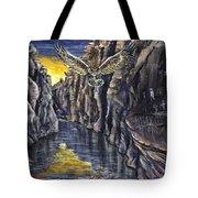 Chevlon Canyon Owl Tote Bag
