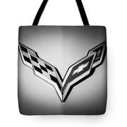 Chevrolet Corvette Emblem -0406bw Tote Bag
