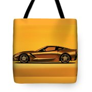 Chevrolet Corvette Stingray 2013 Painting Tote Bag
