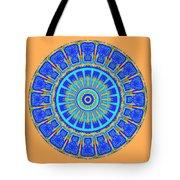 Chevrons Mandala Tote Bag