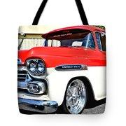 Chevy Apache Custom Hot Rod Truck Tote Bag