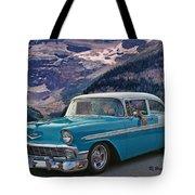 Chevy At Lake Louise Tote Bag