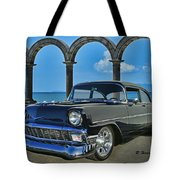 Chevy Belair In Mexico Tote Bag
