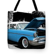 Chevy Love 1956 Tote Bag